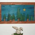 Furdancs vendégposzt - fali dekoráció hulladékból