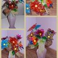 Térbeli virágok üvegmatrica-festékkel