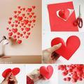 Papírdíszek Valentin-napra