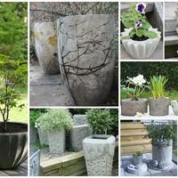 Virágtartók, ültetőedények betonból saját kezűleg