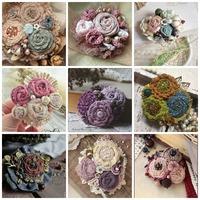 Csodaszép horgolt virágkompozíciók