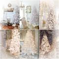 Karácsonyfa-díszítés: hófehér pompa