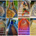 Ámulatba ejtő mozaikos lépcsők a világ minden tájáról