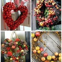 Őszi almakoszorúk, ajtódíszek