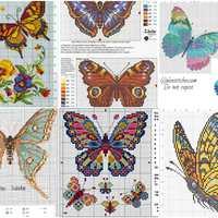 Ingyenes keresztszemes minták: pillangók