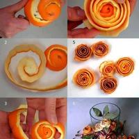 Illatozó virágok narancshéjból