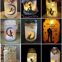 Különleges lámpások befőttesüvegből
