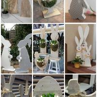 Fából készült bájos húsvéti figurák