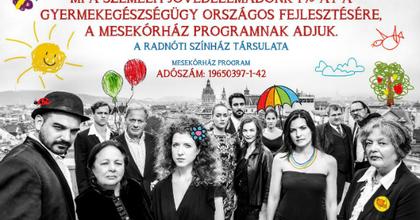 A Mesekórházért kampányol a Radnóti Színház