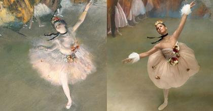 Misty Copeland Degas balerináinak bőrébe bújt