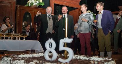 A 85 éves Bárány Frigyest köszöntötték Nyíregyházán