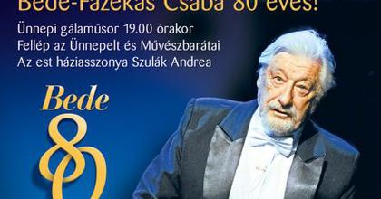 A 80 éves Bede-Fazekas Csabát köszöntik Győrben