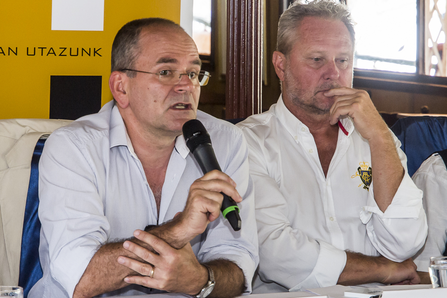 Gyüdi Sándor a Szegedi Nemzeti Színház főigazgatója és Forgács Péter, a Győri Nemzeti Színház igazgatója