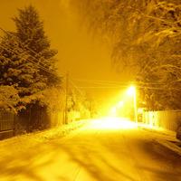 Villanó tél hajnalán