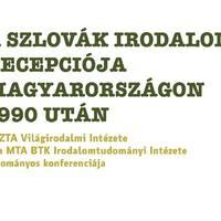 A szlovák irodalom recepciója Magyarországon 1990 után