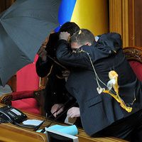 Káosz az ukrán parlamentben