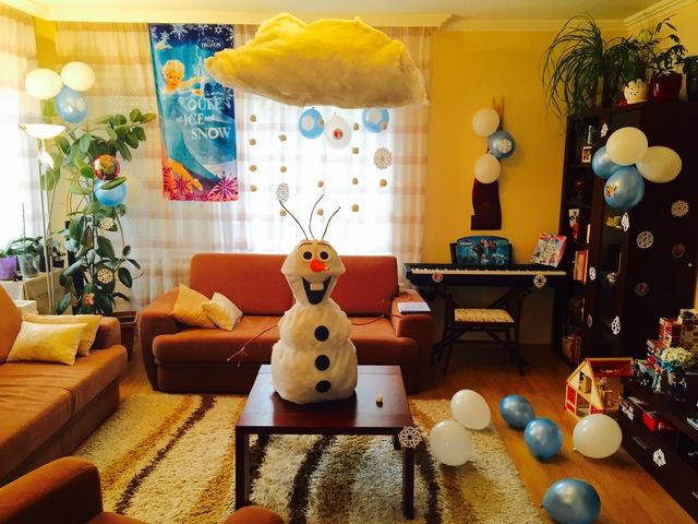 Csináld Magad - Jégvarázs Olaf születésnapi dekoráció