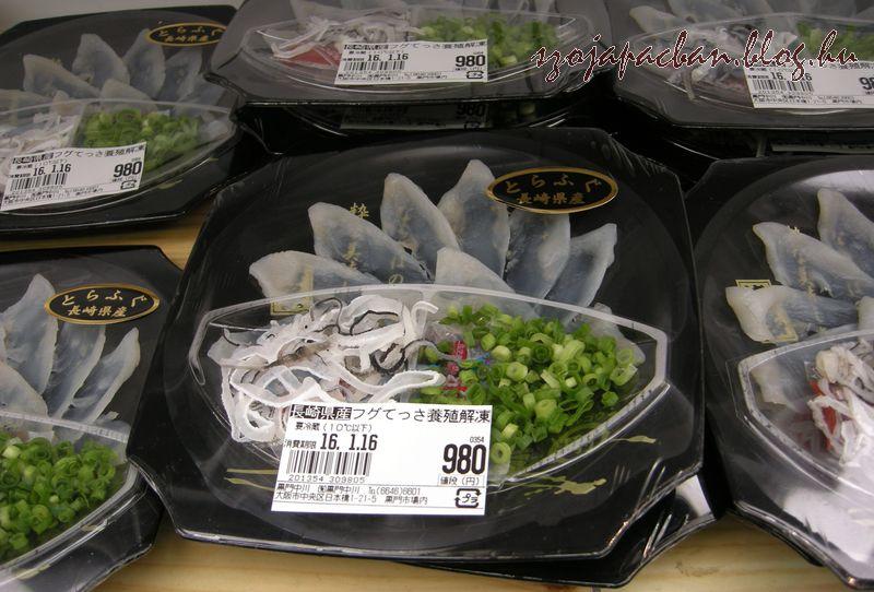 fugu szasimi a piacról- saját felelősségre :)