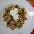 Ebédre: zöldséges,csirkés bulgur