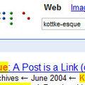 Braille Google logo