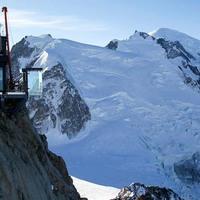Üvegkilátó a francia Alpokban