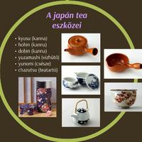Japán tea eszközök és beszerzés