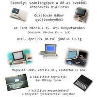 Retro személyi számítógép kiállítás