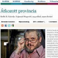 Benedek Szabolcs: Átkozott provincia