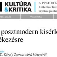 Szabó Katalin: Egy posztmodern kísérlet az emlékezésre