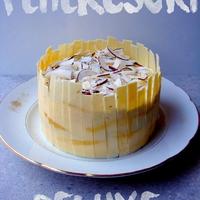Kókuszos fehércsokoládé torta