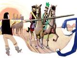 Buda felé mutat Toldi a Google keresőben
