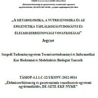 Sporttáplálkozás, Táplálkozás biokémia, pathobiokémia és más érdekes jegyzetek ingyen!