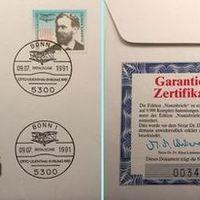 Otto Lilienthal emlékboríték és érem