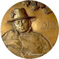 Ady plakett 1977. - A költő születésének 100. évfordulója emlékére