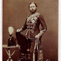 VII. Edward brit király és Alfréd Ernest Albert szász-coburg-gothai herceg portréi