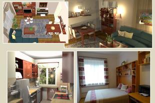 52 négyzetméteres lakás: a konyha
