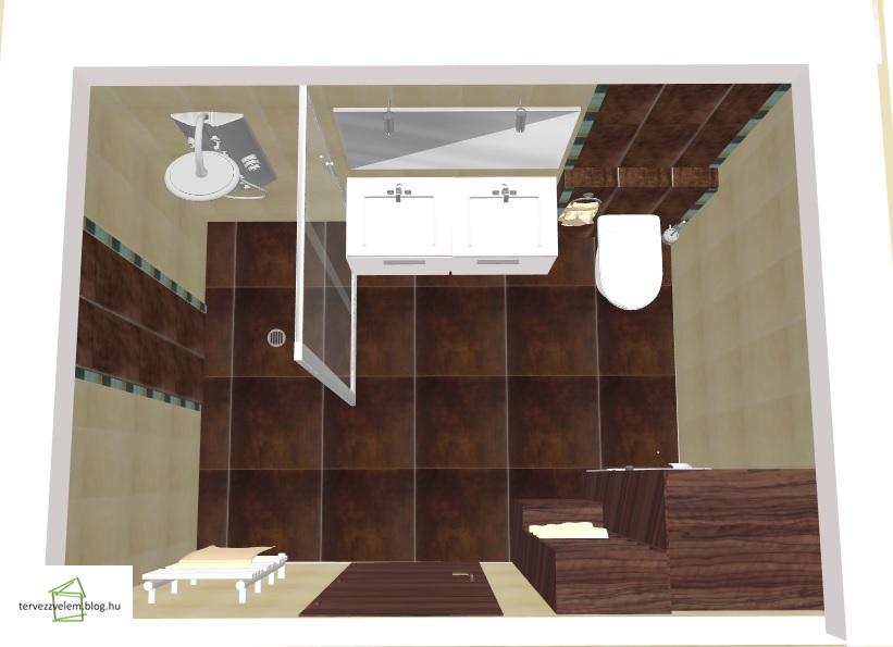 Modern fürdő: barna-bézs elegancia - Tervek, álmok, otthonok ...