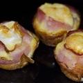 Szalonnás tojás muffin formában sütve