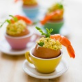 Currys tojás és garnéla koktél - Töltött tojás recept