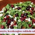 Cseresznyés, kecskesajtos rukkola saláta