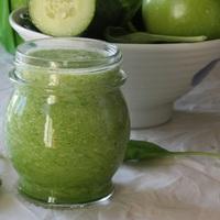 Egészséges és finom mentás zöld turmixital