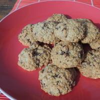 Zabpelyhes, diós, csokis keksz recept (cookie)