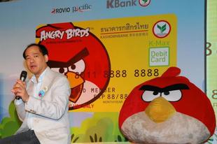 Angry Birds bankkártyák Thaiföldön