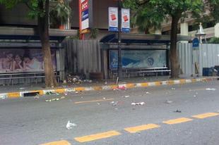 Bomba Bangkok belvárosában