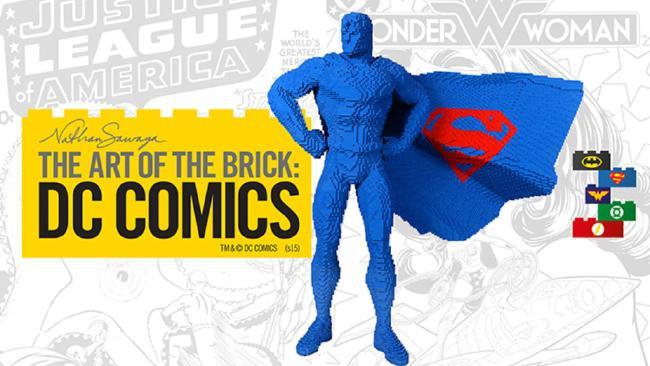 DC hősök kocka formában - A DC művészete LEGO kiállítás