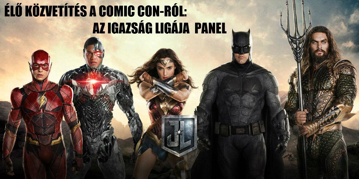 Igazság Ligája a Comic Con-on - ÉLŐ közvetítés