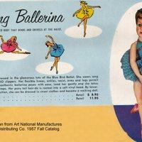 Vintage amerikai Valentine Ballerina baba 1950