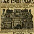 Mi legyen egy utazó poggyászában?  Lista 1886-ból