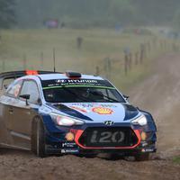 Négy Hyundai i20 WRC a Wales Rally GB-n