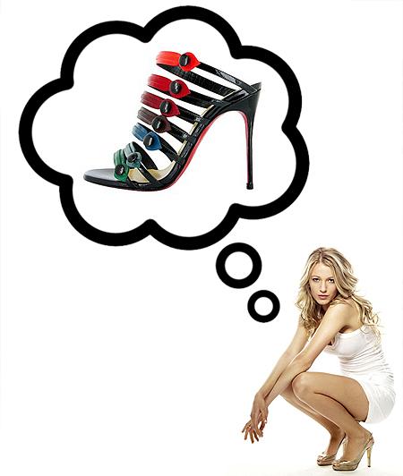 Blake Lively cipő Gossip Girl Christian Louboutin